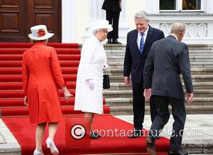 President Joachim Gauck, Daniela Schadt, Queen Elizabeth Ii and Prince Philip Duke Of Edinburgh