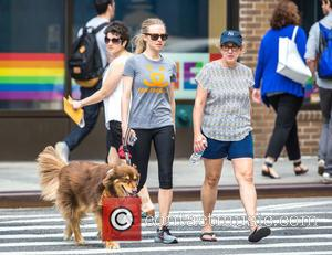 Amanda Seyfried and Ann Seyfried - Amanda Seyfried takes her dog Finn for a walk through New York's West Village...