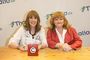 Phyllis Logan and Lesley Nicol - 'Downton Abbey' stars autograph session at Thalia bookshop - Hamburg, Germany - Thursday 25th...
