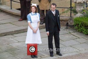 Romola Garai - Filming for 'Churchil'ls Secret' - Kent, United Kingdom - Thursday 25th June 2015