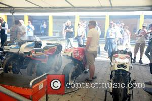 a motorbike is revved up at Goodwood Festival Of Speed