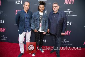Monte Lipman, The Weeknd and Lucian Grainge