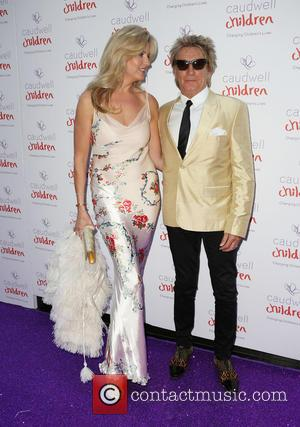 Penny Lancaster and Rod Stewart - Caudwell Children's Butterfly Ball - Arrivals - London, United Kingdom - Thursday 25th June...