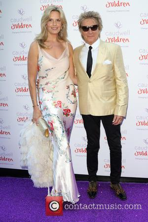 Penny Lancaster and Rod Stewart - Caudwell Children's Butterfly Ball 2015 - Arrivals at Grosvenor Hotel Park Lane - London,...