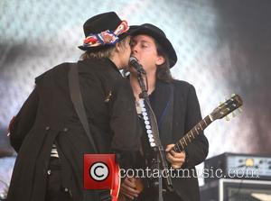 The Libertines, Pete Doherty and Carl Barât - Glastonbury Festival 2015 - Day 3 - Performances at Glastonbury Festival -...