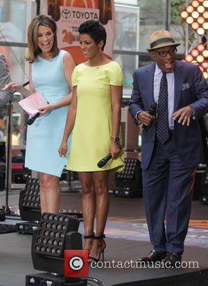 Savannah Guthrie, Tamron Hall and Al Roker - Imagine Dragons perform live at NBC's 'Today Show' at Rockefeller Plaza at...