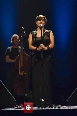 Cristina Branco - Portuguese fado singer Cristina Branco performs live on stage at Teatros del Canal during the Madrid Fado...