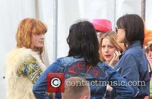 Florence Welsh, Pixie Geldof and Daisy Lowe