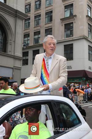 Sir Ian McKellen - New York City Pride 2015 Parade - New York, New York, United States - Sunday 28th...