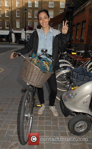 Oona Chaplin - British actress Oona Chaplin appears in good spirits outside Chiltern Firehouse in Marylebone at Marylebone - London,...