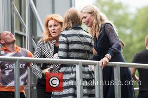 Princess Beatrice, Sarah Ferguson, Duchess Of York and Jodie Kidd