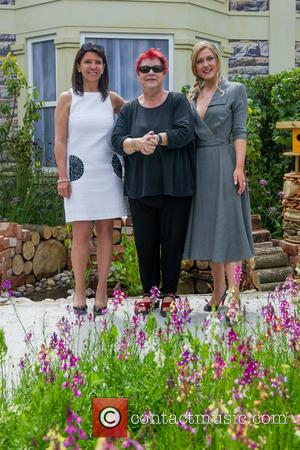 Dr Dawn Harper, Jo Brand and Camilla Kerslake - Celebrities attend a photocall during the RHS Hampton Court Flower Show...