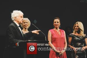 Jean-Jacques Annaud, Katja Eichinger, Jessica Kastrop and Diana Iljine at Festivalzentrum Gasteig