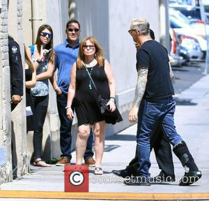 Art Alexakis - Art Alexakis takes a break while rehearsing for a concert on Jimmy Kimmel Live! at Jimmy Kimmel...