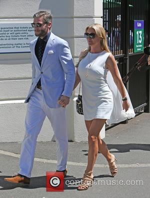 Denise Van Outen and Eddie Boxshall - Celebrities attend the Wimbledon Tennis Championships 2015 - London, United Kingdom - Tuesday...
