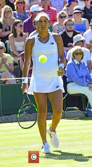 Heather Watson - Wimbledon Tennis Championships 2015 - Day 3 - Heather Clarke of the UK beats Daniela Hantuchova at...