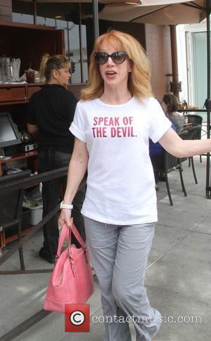 Kathy Griffin - Kathy Griffin goes shopping in Beverly Hills wearing a 'Speak Of The Devil' t-shirt - Los Angeles,...