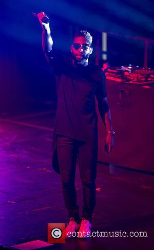 Tinie Tempah - Tinie Tempah performs a stand up show for Why Not People at the Troxy - London, United...