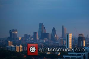View and Atmosphere at City of London from Black Heath