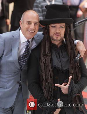 Boy George and Matt Lauer