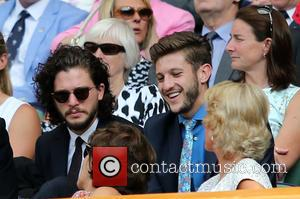 Kit Harington and Adam Lallana - Celebrities attend the Wimbledon Tennis Championships 2015 at All England Club - London, United...