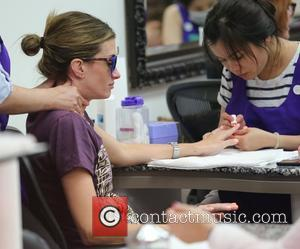 Rhea Durham - Rhea Durham gets a manicure at Beverly Hills Nail Design at Beverly Hills - Los Angeles, California,...