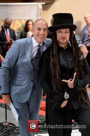 Matt Lauer and Boy George - Boy George performs live on NBC's 'Today' Show - Manhattan, New York, United States...
