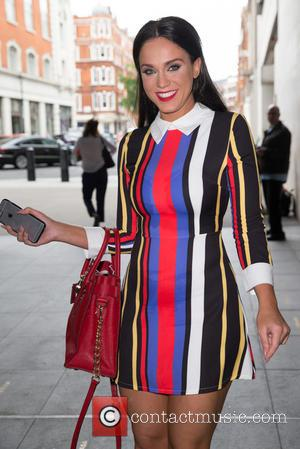 Vicky Pattison - Vicky Pattison arriving at the BBC Radio 1 studios at BBC Portland Place - London, United Kingdom...