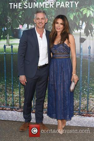Gary Lineker and Danielle Lineker - Serpentine Gallery summer party held in Kensington Gardens - Arrivals at Serpentine Gallery -...