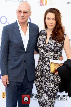 Patrick Stewart and Sunny Ozell - Red Carpet arrivals for the 02 Silver Clef Awards 2015 held at Grosvenor House,...