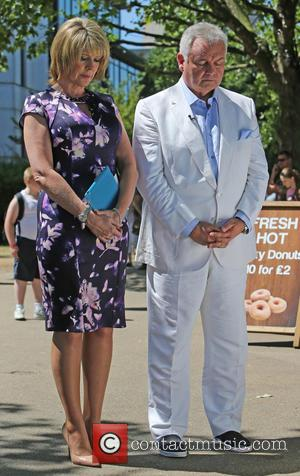 Ruth Langsford and Eamonn Holmes - Ruth Langsford and Eamonn Holmes take part in a minute silence for the Tunisia...