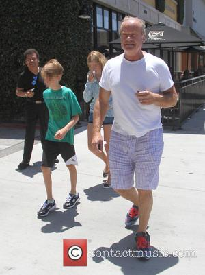 Jude Grammer, Kelsey Grammer and Mason Grammer - Kelsey Grammer takes his kids Mason and Jude Grammer to lunch at...