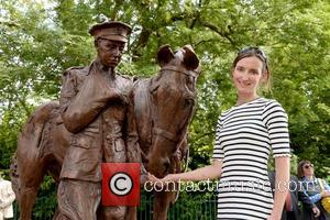 Amy Goodman - Romsey WWI war horse memorial model unveiled by Princess Anne - Romsey, United Kingdom - Friday 3rd...