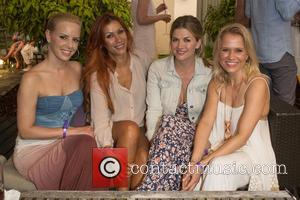 Isabel Edvardsson, Yasmina Filali, Nina Bott and Nova Meierhenrich - Celebrities attending the Summerparty of Aspria Uhlenhorst in Hamburg -...