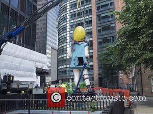 View and Atmosphere - Damien Hirsts sculpture is installed in London as a part of the City of London Cultural...