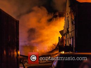 Atmosphere - A fire breaks out at a factory on Wadsworth Road, London at Wadsworth Road - London, United Kingdom...