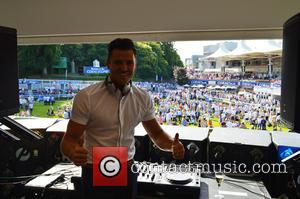 Mark Wright - Mark Wright DJs Coral-Eclipse Day at Sandown Park Racecourse at Sandown Park - Esher, United Kingdom -...