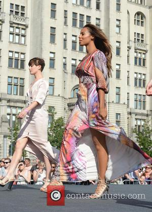 Rochelle Humes - The Very Big Catwalk at Liverpool Pier Head - Liverpool, United Kingdom - Saturday 4th July 2015