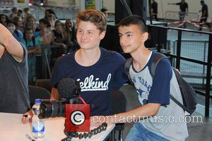 Felix von der Laden and Dner - German YouTube stars at YOU at Messe Berlin at Messe Berlin - Berlin,...