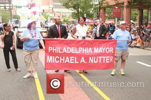 Michael Nutter and Lisa Nutter - Philadelphia's Independence Day parade - Philadelphia, Pennsylvania, United States - Sunday 5th July 2015