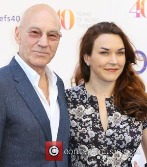 Sir Patrick Stewart and Sunny Ozell - Nordoff Robbins O2 Silver Clef Awards - Arrivals - London, United Kingdom -...