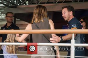 Mel C, daughter and Christian Horner