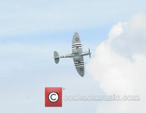 Hurricane and Spitfire RAF Battle of Britain memorial Flight - The Spitfire and The Hurrican peform during the RAF Battle...