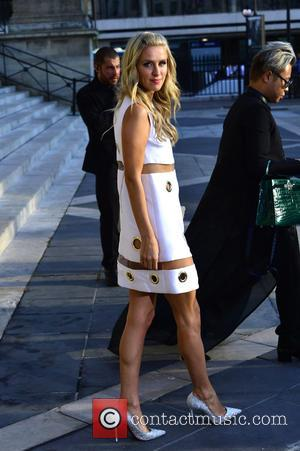 Nicky Hilton - Paris Haute Couture Fashion Week Winter 2015/2016 - Versace - Arrivals. Nicky Hilton arriving without wearing underwear...