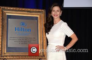Catherine Zeta-Jones - Catherine Zeta-Jones officially opens the Ageas Bowl Hilton Hotel near Southampton. She is a family friend of...
