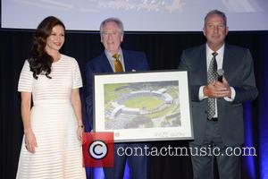 Catherine Zeta-Jones, Rod Bransgrove and Sir Ian Botham - Catherine Zeta-Jones officially opens the Ageas Bowl Hilton Hotel near Southampton....