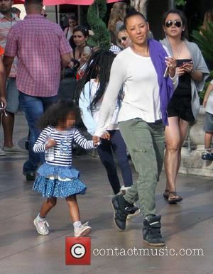 Mel B, Melanie Brown and Madison Brown Belafonte - Dressed down and make up free, Melanie Brown takes her family...