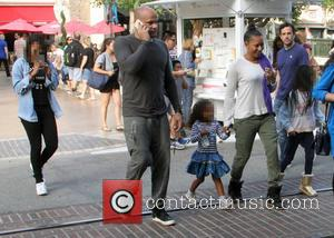 Mel B, Melanie Brown, Stephen Belafonte, Madison Brown Belafonte and Phoenix Chi Gulzar - Dressed down and make up free,...