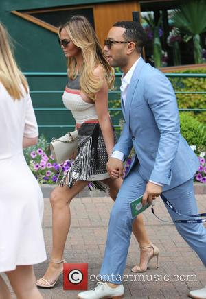 John Legend and Chrissy Teigen - 2015 Wimbledon Championship - Celebrity Sightings - London, United Kingdom - Monday 6th July...
