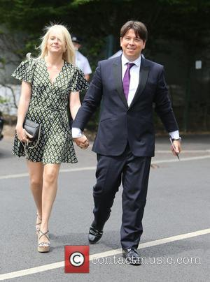 Michael McIntyre - Michael McIntyre and Wife Kitty outside Wimbledon - London, United Kingdom - Monday 6th July 2015